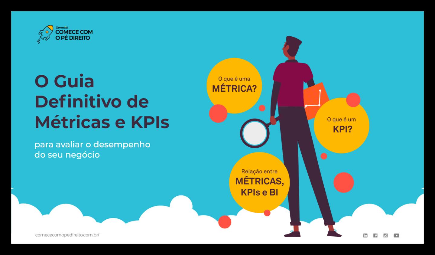 Avatar segurando um gráfico e analisando as métricas de KPIs para avaliar o desempenho do negócio